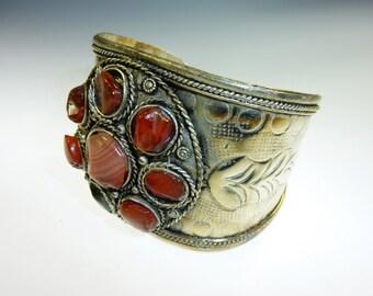 Indian Bracelet with carnelian stones