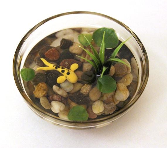 Miniature Koi Pond In Glass Bowl Fake Koi Pond Polymer Clay