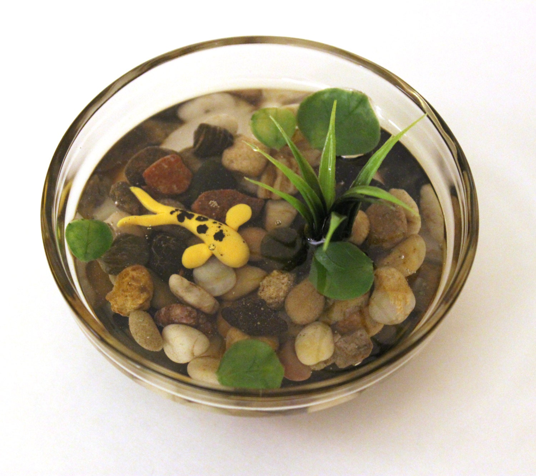 Miniature koi pond in glass bowl fake koi pond polymer clay for Artificial koi fish for ponds