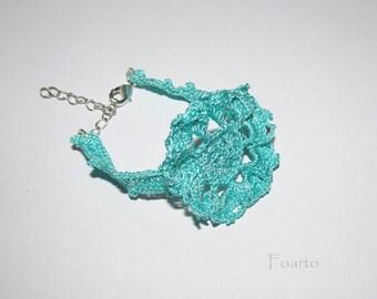 Designer bracelet crochet turquoise bracelet women's bracelet crochet jewelry for women gift ideas for girl cute bracelet (CB-13)