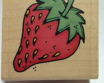 Summer Strawberry Rubber Stamp by Whipper Snapper Designs, Inc