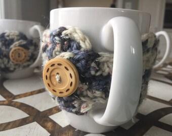 Hand Crocheted Coffee Mug Cozy--set of 4