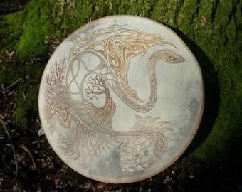 Shamanic drum with off the shelf design