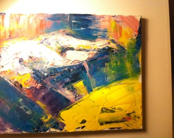 Abstract oil on canvass - original painting