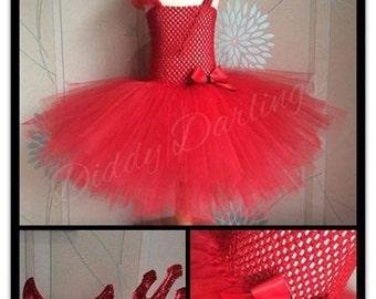 Red Devil Tutu Dress. Halloween Tutu Dress. Inspired Handmade Dress. All Sizes Fully Customised. Fancy Dress. Cute Devil Costume