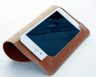 Pouch leather case for iphone 6 Plus - Leather case iphone 6 plus