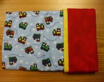 Flannel Pillowcase Kit- Cute Little Trains