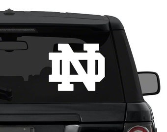 Notre Dame Fighting Irish decal sticker for car, truck, suv, laptop in ANY COLOR die cut vinyl