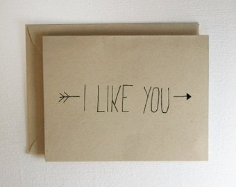 I Like You Valentine Arrow Card