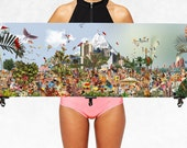 At The Beach - Summer Poster - Colourful Art Print - Retro Modern Illustration