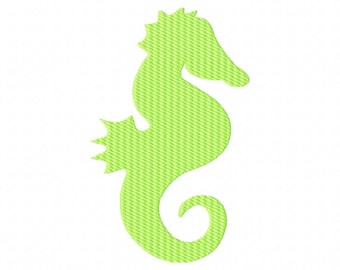 INSTANT DOWNLOAD. Seahorse fill embroidery design. Sea creature. animal. Sea Life. Ocean. Fish. Nautical. Digitizing.  Digital file.
