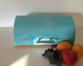 Metal Shabby Bread Box, Cottage Chic Breadbox, Farmhouse Chic Bread Box
