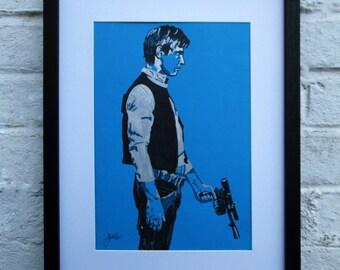 A3 Han Solo blue Giclee print