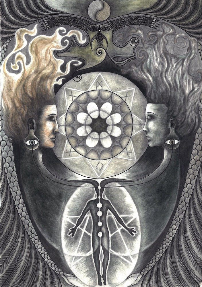 Visionary Spiritual Union Of Masculine And By WildDreamWonders