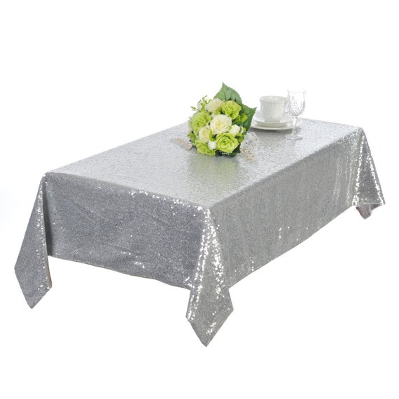 runner SoarDream Tablecloths50''x72'' round table by Silver Tablecloth length  table Sequin 60 for Sequin