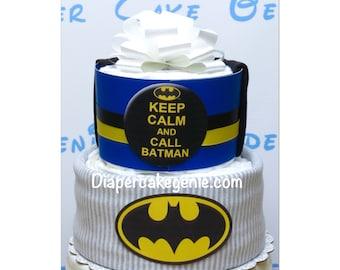 Superhero Batman diaper cake