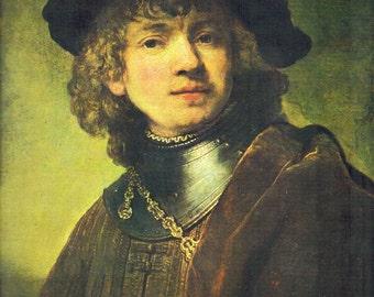 "Rembrandt Print Art 1978 : ""Self-Portrait"" 8 1/4"" x 9 5/8"" Print"