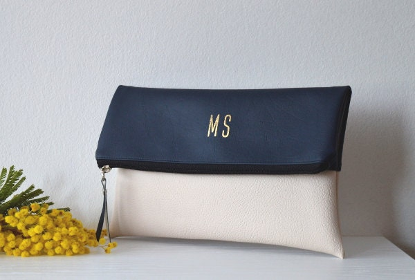 Navy blue clutch | Etsy