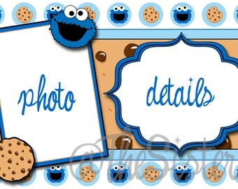 Cookie Monster invitation