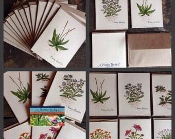 Herbal Art Cards Set of 7
