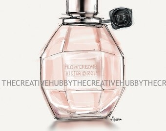 Flowerbomb Perfume Drawing