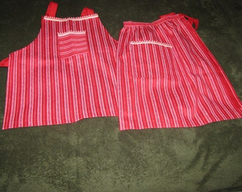 We make full or half aprons. Let us know what you want and we'll make it for you.