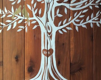 Custom wedding wooden sign