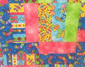 Baby Quilt with Bugs