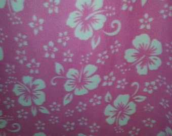 Hibiscus All Over Polar Fleece Print, 59'' Wide, *sold by the yard*