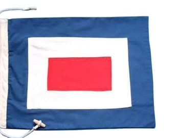 Letter W Cotton Nautical Signal Flag