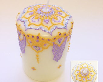 Lilac & yellow henna candle