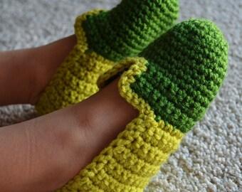 Crochet Slippers. Boys 4-9 years