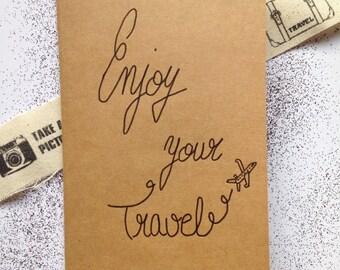 Notebook Kraft Enjoy your travel