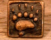 Rustic lodge Bear Track1 1/2 inch cabinet knob BT112S  - Hand poured in Montana,  cabin, loghome hardware