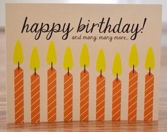 Many Happy Birthdays Note Card