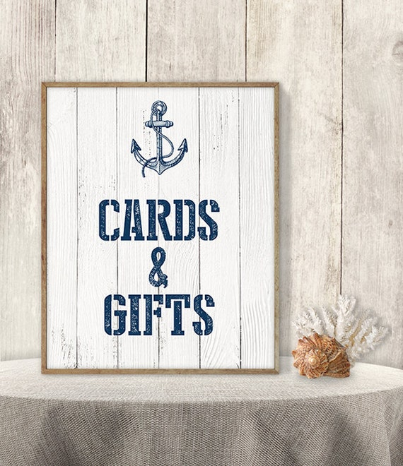 Wedding Gift Card Sign : Wedding Cards & Gifts Sign // Card Table, Gift Table Sign DIY ...