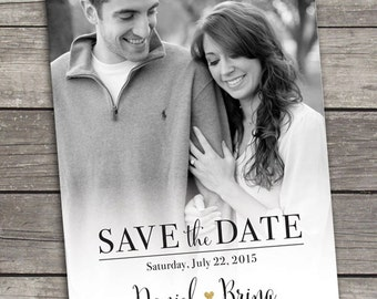 Save The Date - Photo Announcement - Custom Printable - Digital