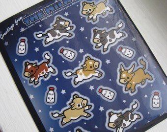 Milky Way Cows Vinyl Sticker Set