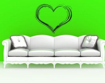 Wall Vinyl Sticker Decals Mural Room Design Heart  Love Romantic bo010