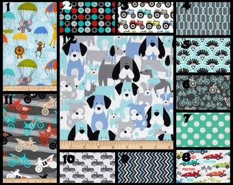 Custom Nursery Fabric Choices Michael Miller It's A Boy Thing