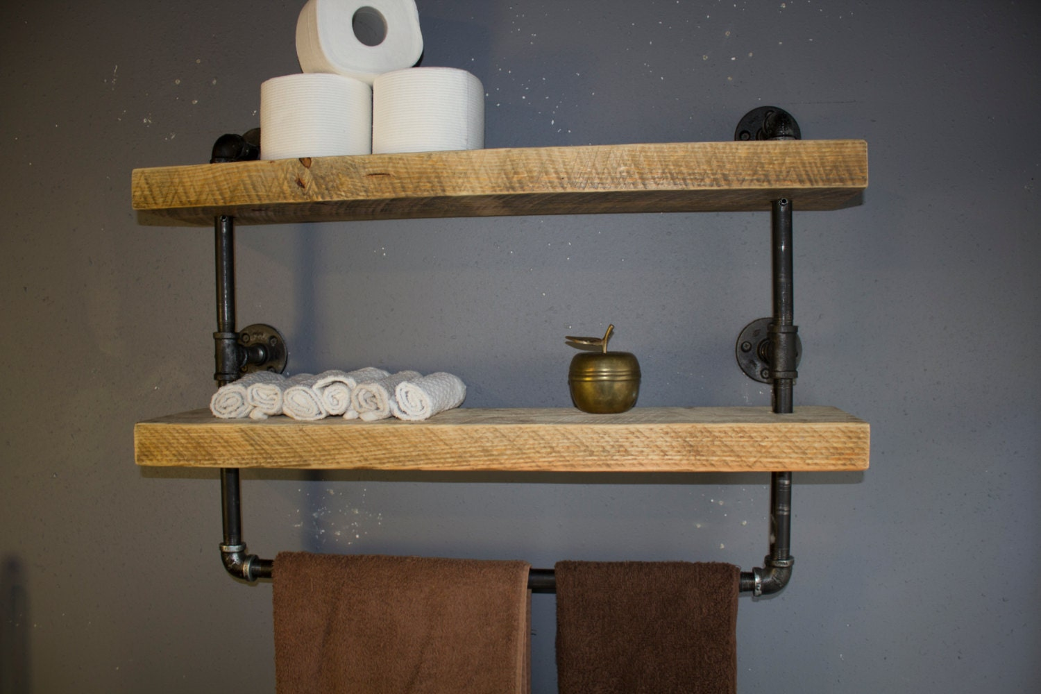 Industrial Pipe Shelf Bathroom Shelves