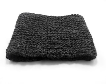 Charcoal Knitted neck warmer
