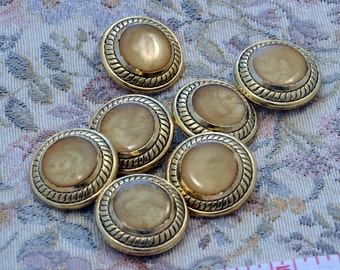 """Gold buttons to color amber center diameter 1"""""""