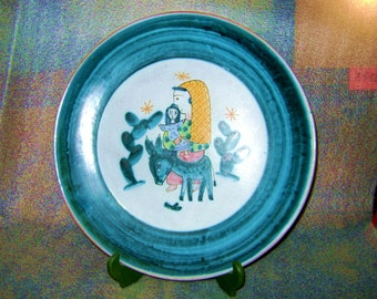 Vietri ceramic dish decorated