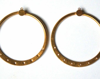 Gold filled brass creoles earings