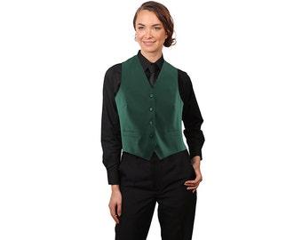 Women's Hunter Green Full back dress vest