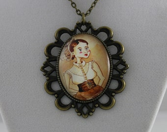 Velveteen Portraits: Claire - Cameo Necklace