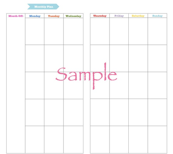 Midori Happy Colours Monthly Weekly Grid Bundle V1 Instant