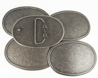 5 oval die-cast belt buckle blanks