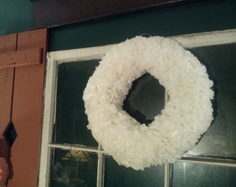 Simple Elegant White Coffee Filter Wreath